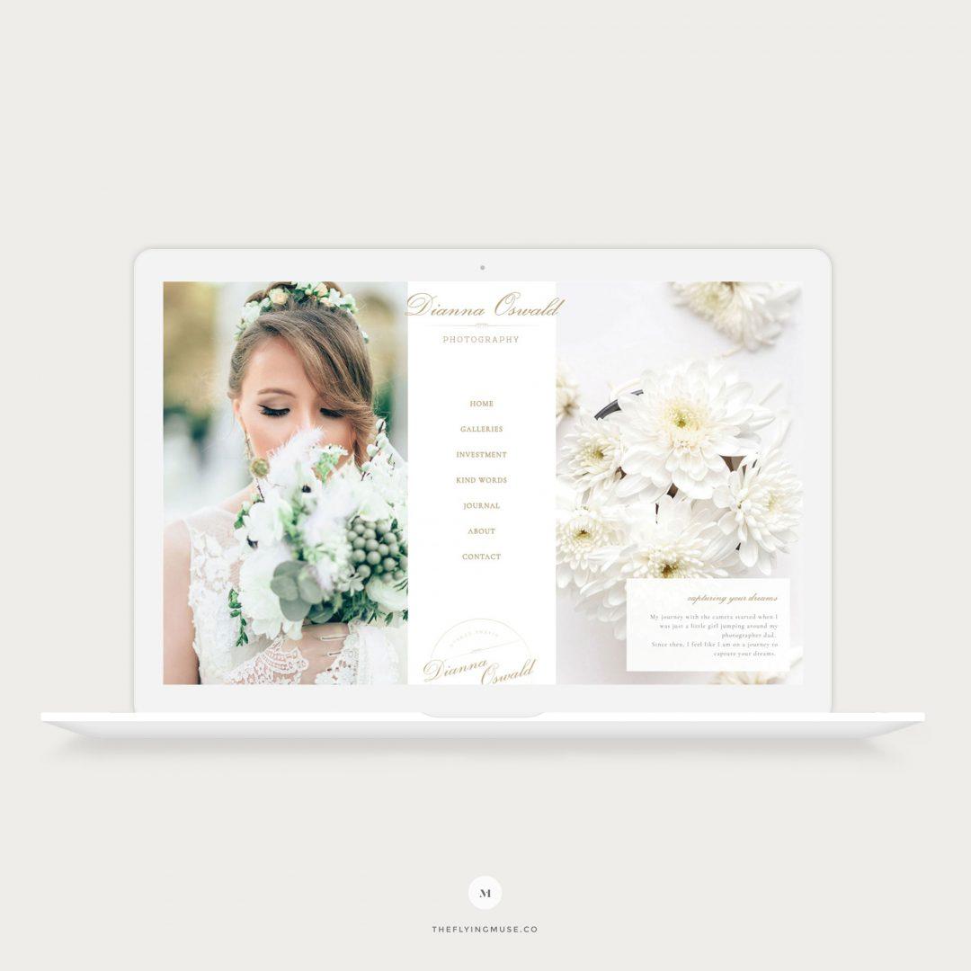 Dianna - Showit 5 Design for Wedding Photographers