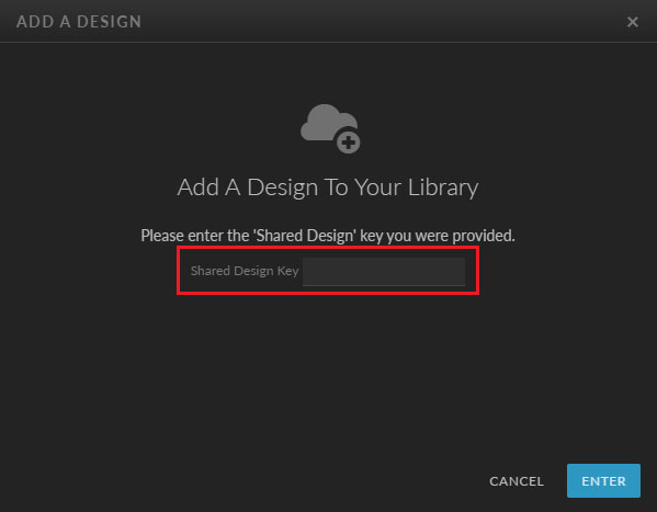 Insert Showit Shared Design Key to Add a Showit Template Design
