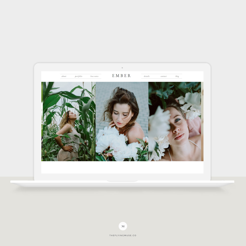 Showit Website Template for Photographers - Ember