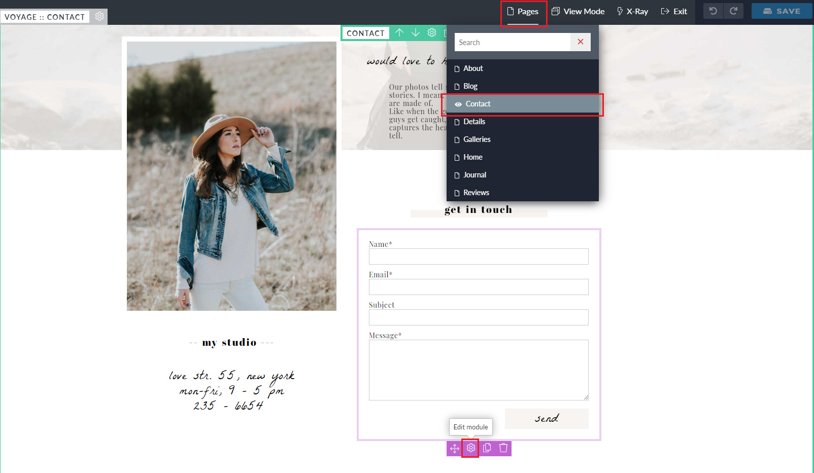ProPhoto Lead Capture Form Customization from the Voyage ProPhoto 7 template design