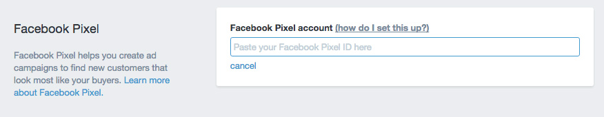 Facebook Pixel Setup - Shopify Settings