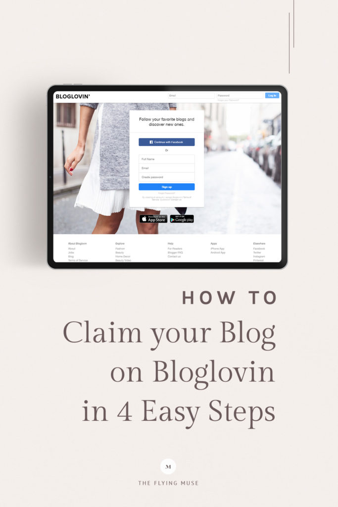 How to claim your Blog on Bloglovin in 4 Easy Steps