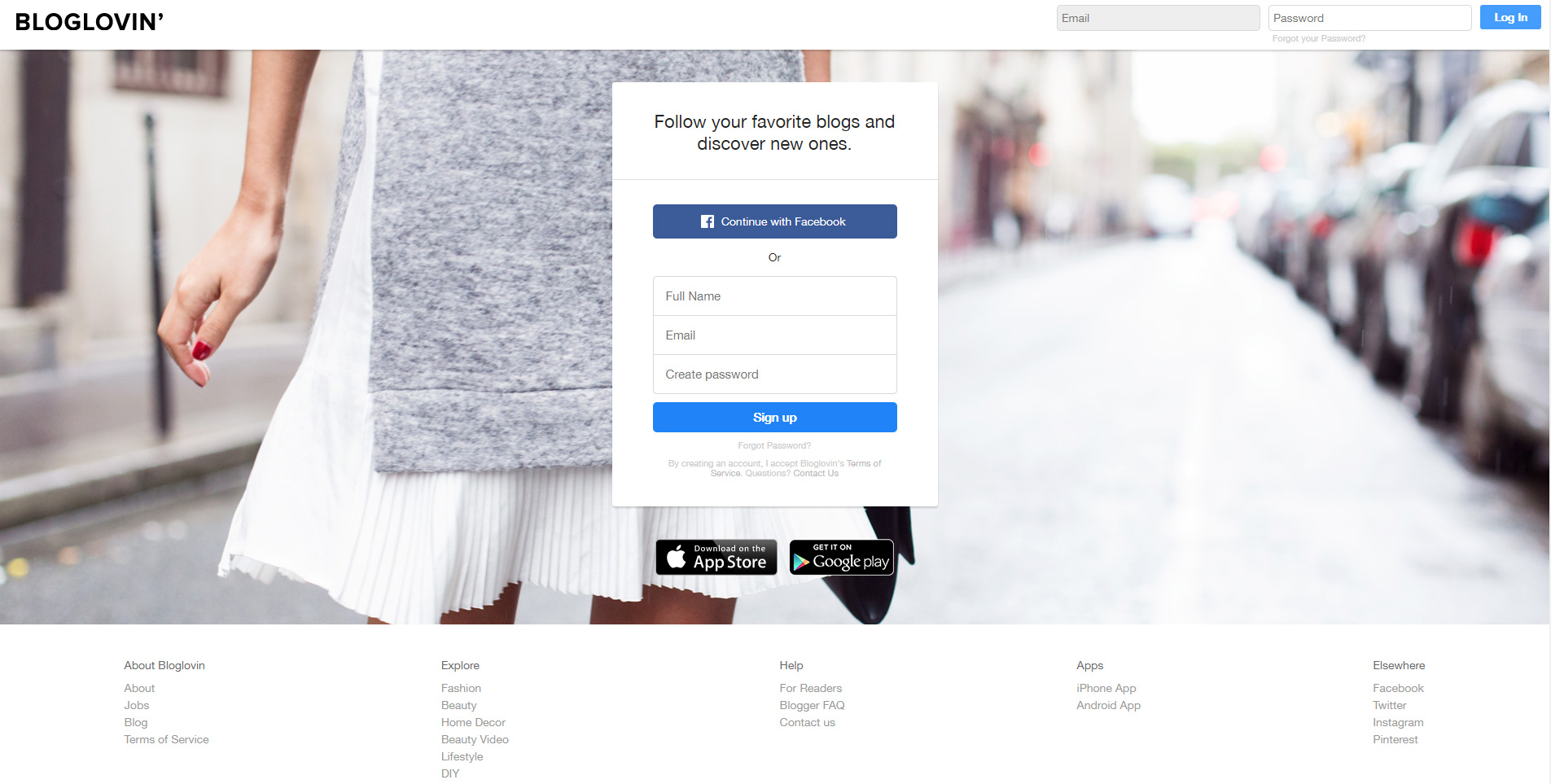 Create an account on Bloglovin