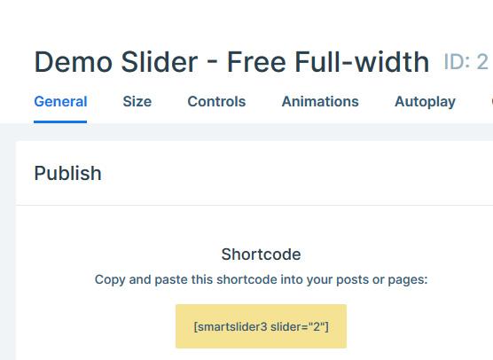 Smart Slider 3 WordPress plugin Shortcode