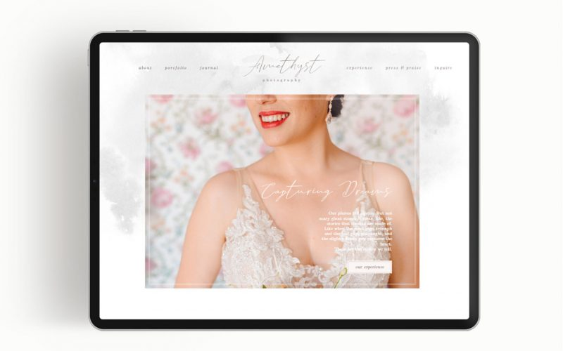 Amethyst Website Template by the Flying Muse